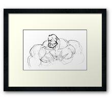 Zangief Portrait Framed Print