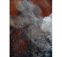 Red Sky Snow Mist Photographic Print
