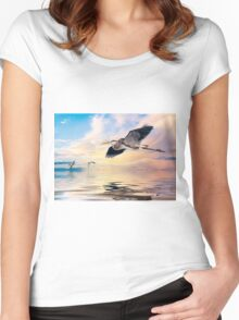 Gulf Sunset Reflections Women's Fitted Scoop T-Shirt