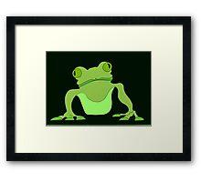 Black Frog Framed Print