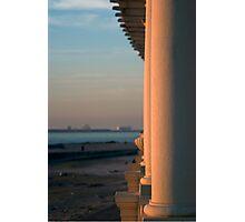 Beach colonnade Photographic Print
