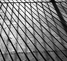 Brooklyn Bridge sidewalk by Anne Frizell