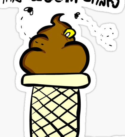 This ice cream Stinks Sticker