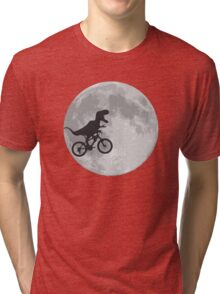 T-rex riding a bike Tri-blend T-Shirt