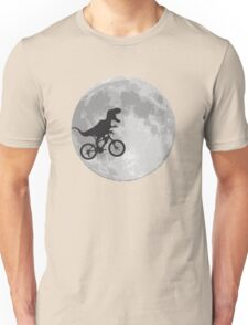 T-rex riding a bike Unisex T-Shirt