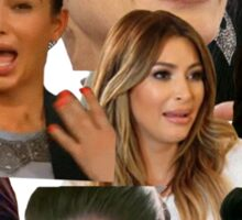 Kimmy K Crying Collage Sticker