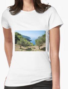 Alonissos coastline, Greece Womens Fitted T-Shirt