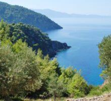 Alonissos coastline, Greece Sticker