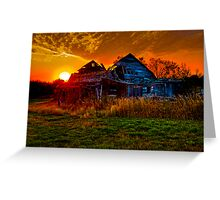 The Last Sunset  Greeting Card