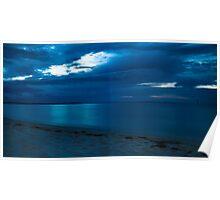 Blue Rye Sunset Poster