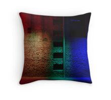 Red and the Blue Throw Pillow