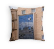 Office building in Palma Throw Pillow