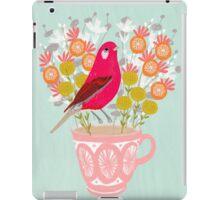 Bird on a Teacup by Andrea Lauren  iPad Case/Skin