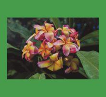 Blooming Frangipani (Plumeria tricolor)  Kids Tee