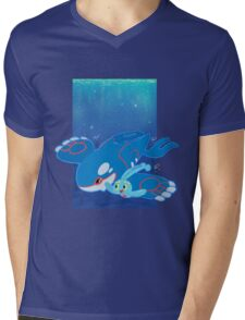 Kyogre and Manaphy Mens V-Neck T-Shirt