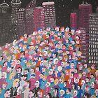 Night in the city by Detlev  Jurkuhn
