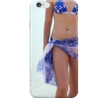 Young woman on vacation iPhone Case/Skin