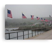 Gloucester Flags Canvas Print