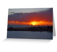 Newport Sunset Greeting Card
