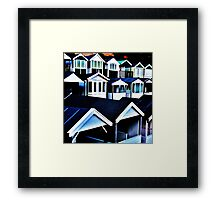 Round the Houses Framed Print