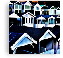 Round the Houses Canvas Print