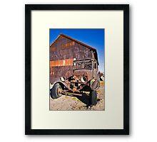 Daggett Garage Route 66 Framed Print