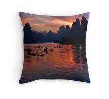 4930 - Xingping Fishermen Throw Pillow
