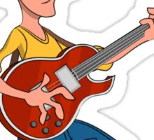 Man playing guitar. Sticker