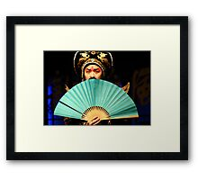 Sichuan  Opera, China Framed Print