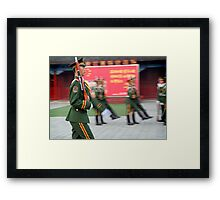 Red Army, Beijing, China Framed Print