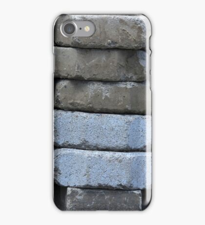 Gray Concrete Bricks iPhone Case/Skin