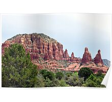 Red Rock Spires Poster