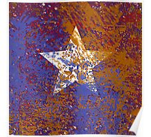 Rustic Star in Red, White, and Blue Poster