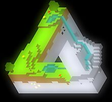 Optical Illusion Minecraft by ironmisk