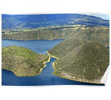 Lake Cuicocha on a Windy Day Poster