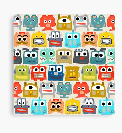 summer baby robots Canvas Print