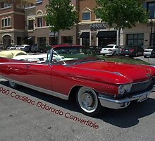 1960 Red Cadillac Eldarodo Convertible by TeeMack