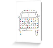 Camper Van with Spots Greeting Card
