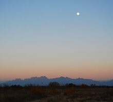 Moon Over Las Cruces by MMPhotography