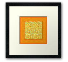 Watercolour Golden Daffodils and Polka Dots Framed Print