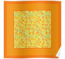 Watercolour Golden Daffodils and Polka Dots Poster