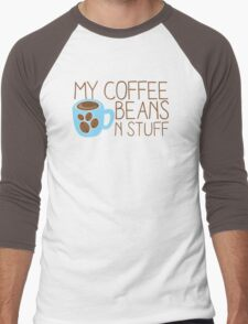 My Coffee beans n stuff Men's Baseball ¾ T-Shirt