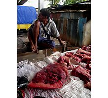 Meat for sale by Mario Soares Ferreira Photographic Print