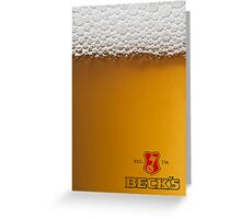 Beer Advertising Greeting Card