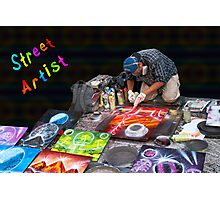 Street Spray Paint Artist Photographic Print