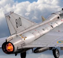 SAAB Sk-35C Draken 35810 SE-DXP blasting off Sticker