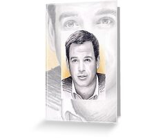 Michael Weatherly miniature Greeting Card
