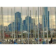 Yacht Forest Photographic Print