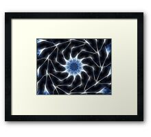 Blue Kaleidoscope 8 Framed Print