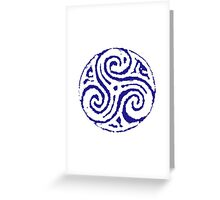 The Woad Triskele  Greeting Card